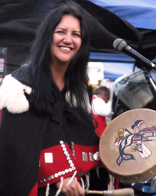 Cheryl Bear with drum